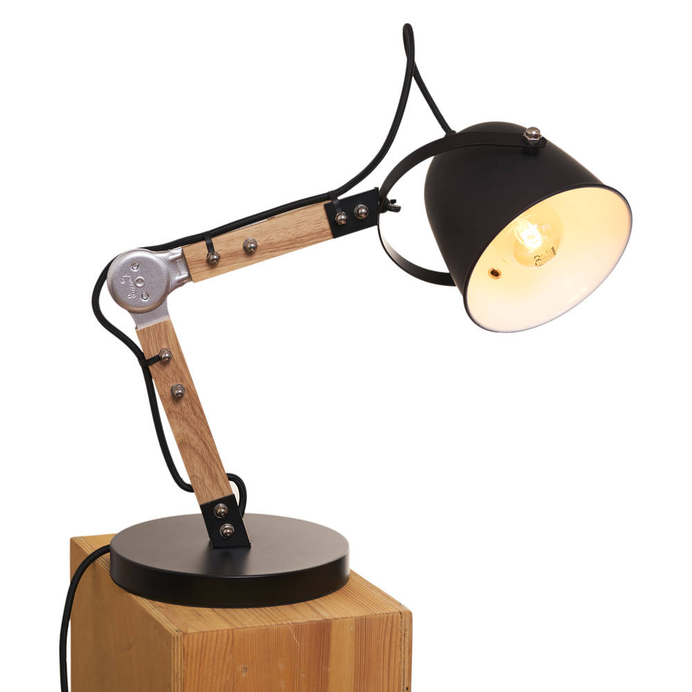 Opis Tl1 Lampada Da Tavolo Design Vintage In Legno E Metallo Opis Technology
