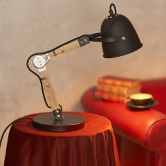 Opis TL1 Lámpara de Escritorio Vintage de Madera y Metal