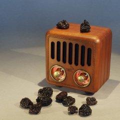 Opis Radio 2 – Small Wooden Retro Bluetooth Speaker and VHF Radio (Cherry Wood)