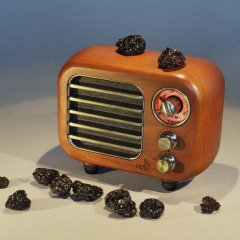 Opis Radio 3 – Small Wooden Retro Bluetooth Speaker and VHF Radio (Cherry Wood)