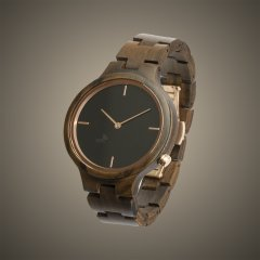 Opis UR-F1 (Black Sandalwood) Wooden Wrist Watch for Women