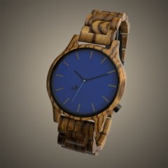 Opis UR-M1 (Zebra Wood) Wooden Wrist Watch for Men