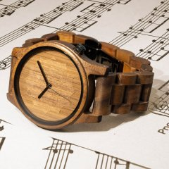 Opis UR-M3 Pure Wooden Wrist-Watches for Men (Walnut)
