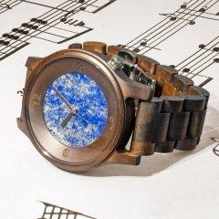 Opis UR-M4 Wood and Stone Watch for Men (Black Sandalwood/Lapis Lazuli)