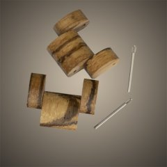 2 Extra Links for Opis UR-M4 Zebrawood/Marble for Men