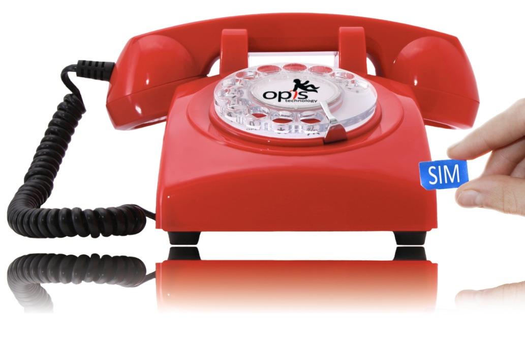 telefon mit sim karte Telefonieren mit Wählscheibe und SIM Karte   Opis Technology